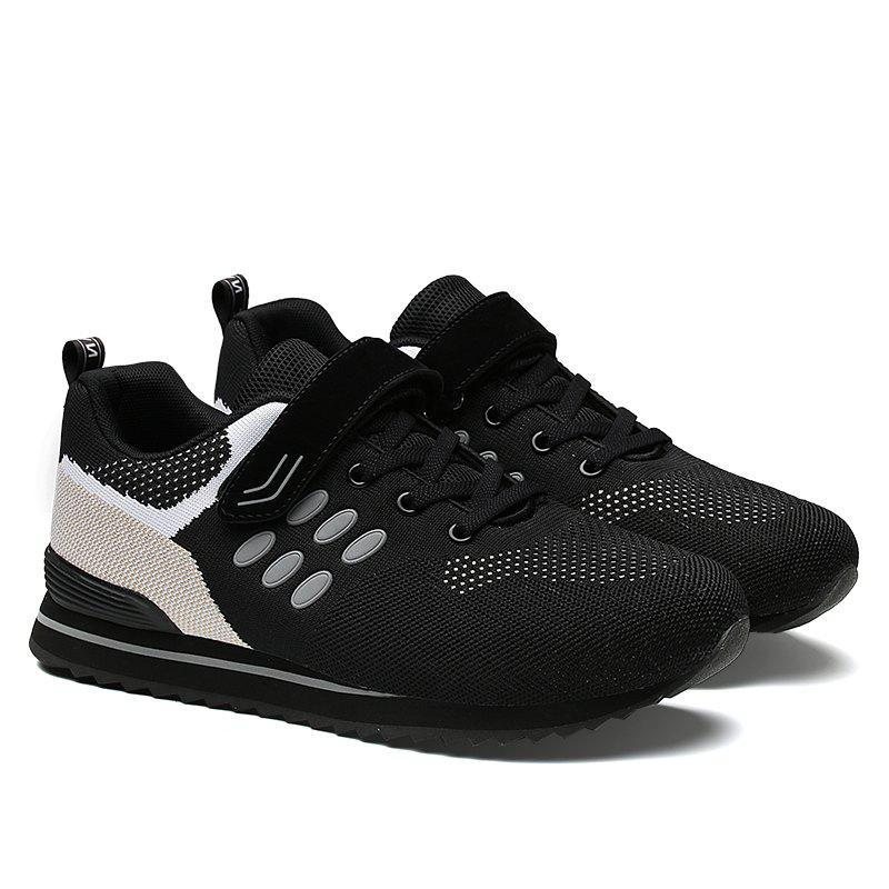 Walking Sneakers Ladies Jogging Outdoor Flat Soft Non-Slip Shoes - BLACK 39