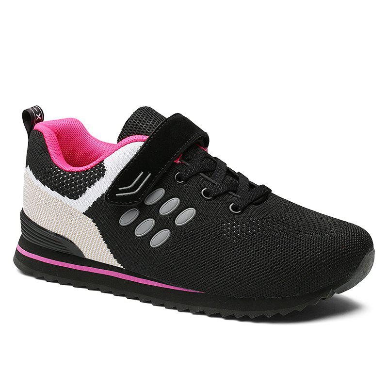 Walking Sneakers Ladies Jogging Outdoor Flat Soft Non-Slip Shoes - PLUM 38