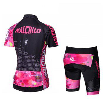 Malciklo 18 New Products Summer Cycling Jersey Tights Woman Short Bike Compression Suits - BLACK/RED BLACK/RED