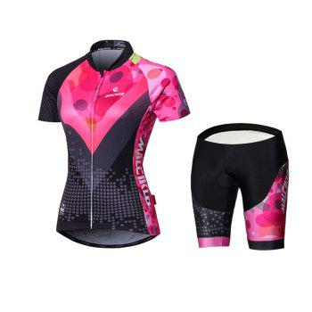 Malciklo 18 New Products Summer Cycling Jersey Tights Woman Short Bike Compression Suits - BLACK&RED BLACK/RED