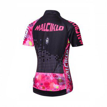Malciklo 18 New Products Summer Cycling Jersey Tights Woman Short Bike Compression Suits - BLACK/RED 2XL