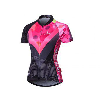 Malciklo 18 New Products Summer Cycling Jersey Tights Woman Short Bike Compression Suits - BLACK/RED M