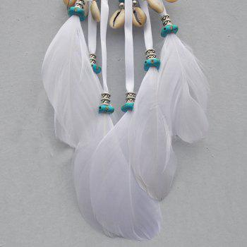The New Bohemian Accessories A Hoard of Shells Dreamcatcher - WHITE