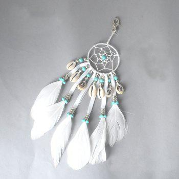 The New Bohemian Accessories A Hoard of Shells Dreamcatcher - WHITE WHITE