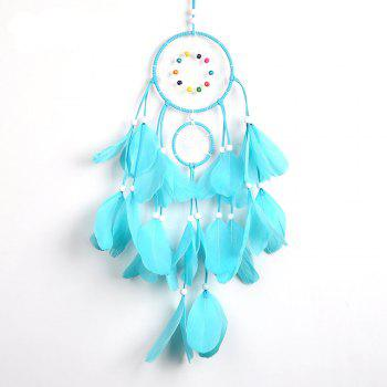 The New Large Feather Dreamcatcher - BLUE BLUE
