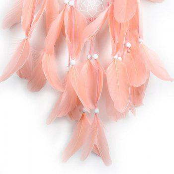 The New Large Feather Dreamcatcher - PINK