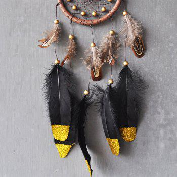 Black Feathers Powders Contracted Dreamcatcher Widgets - BLACK