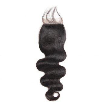 Brazilian Body Wave Lace Closure  Hair Natural Color - BLACK 8INCH