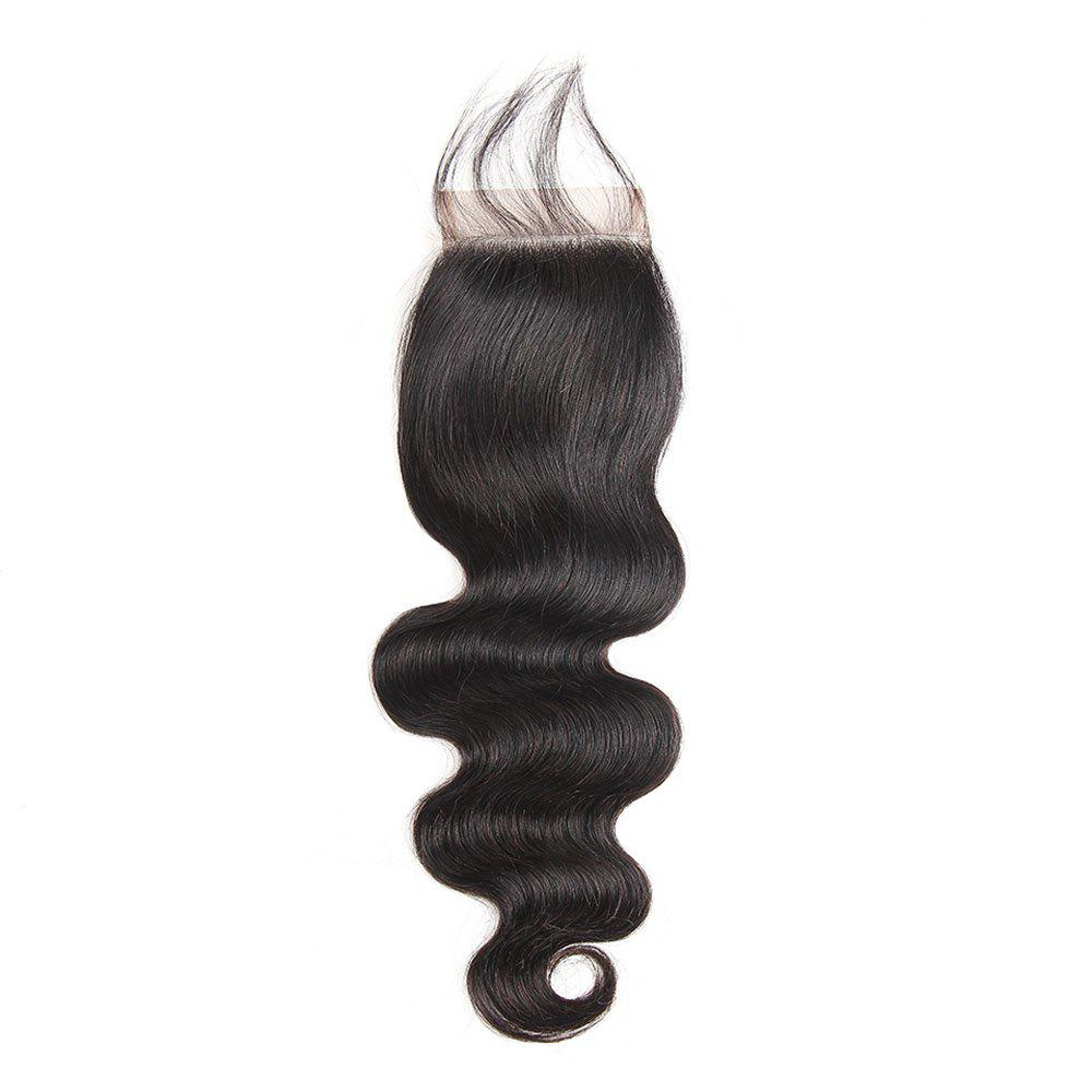 Brazilian Body Wave Lace Closure  Hair Natural Color - BLACK 20INCH
