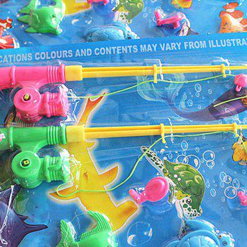 Marine Fish Child Favorite Fishing Toy with Magnet - COLORMIX