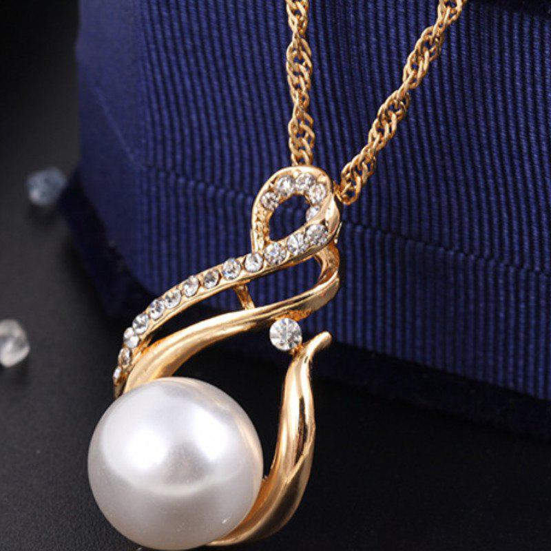 Korean Version of The New Necklace Earrings Set of Female South Korean  Pendant Jewelry Three-Piece Set - GOLDEN