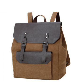1Pc Male Canvas Backpack Rucksacks Travel Bag Fashion Shoulder Bags - CAPPUCCINO CAPPUCCINO