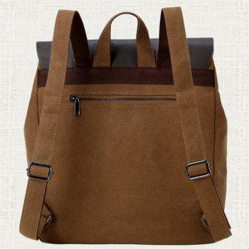 1Pc Male Canvas Backpack Rucksacks Travel Bag Fashion Shoulder Bags -  CAPPUCCINO
