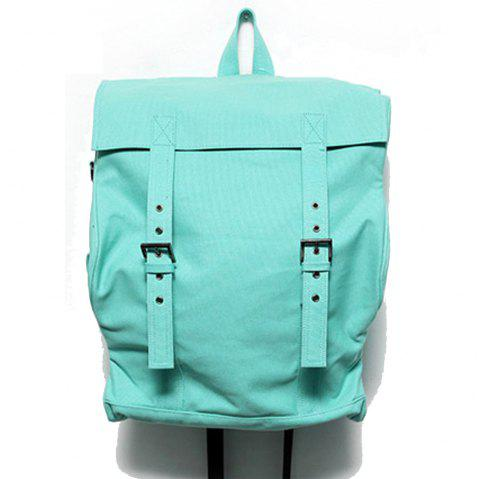 1PC Computer Backpack Large Capacity Bags  Couple Canvas Bag - LIGHT GREEN