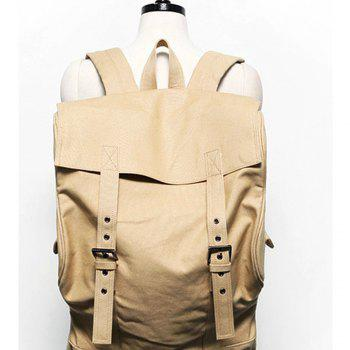 1PC Computer Backpack Large Capacity Bags  Couple Canvas Bag - KHAKI KHAKI