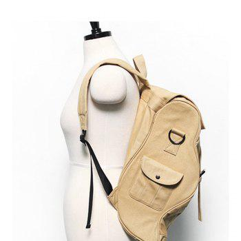 1PC Computer Backpack Large Capacity Bags  Couple Canvas Bag -  KHAKI