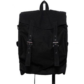 1PC Computer Backpack Large Capacity Bags  Couple Canvas Bag - BLACK BLACK