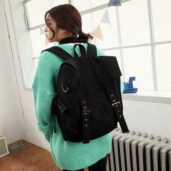 1PC Computer Backpack Large Capacity Bags  Couple Canvas Bag -  BLACK