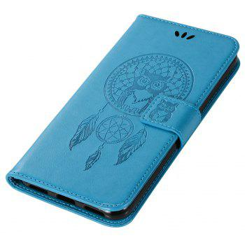 Owl Campanula Fashion Wallet Cover For Asus Zenfone 4 Selfie ZD553KL Case Phone Bag With Stand PU Flip Leather Case - BLUE