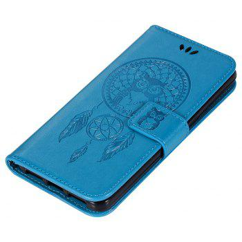 Owl Campanula Fashion Wallet Cover For Alcatel A5 LED 5085 / 5085D Case PU Flip Retro Leather Case Phone Bag With Stand - BLUE