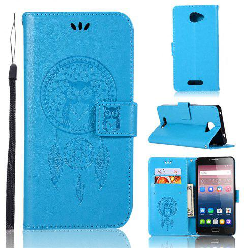 Owl Campanula Fashion Wallet Cover For Alcatel POP 4S 5095K / 5095Y Case 5.5 Inch PU Flip Retro Leather Case Phone Bag - BLUE
