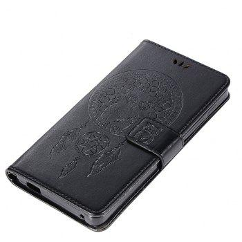 Owl Campanula Fashion Wallet Cover For Alcatel POP 4S 5095K / 5095Y Case 5.5 Inch PU Flip Retro Leather Case Phone Bag - BLACK