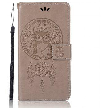 Owl Campanula Fashion Wallet Cover For Alcatel POP 4S 5095K / 5095Y Case 5.5 Inch PU Flip Retro Leather Case Phone Bag - GRAY