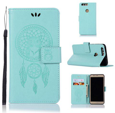 Owl Campanula Fashion Wallet Cover For Huawei Honor 8 Case PU Luxury Retro Flip Leather Case Phone Bag With Stand - IVY