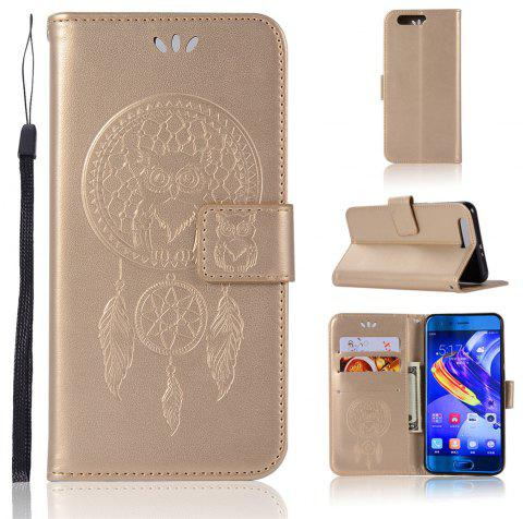 Owl Campanula Fashion Wallet Cover For Huawei Honor 9 Case PU Luxury Retro Flip Leather Case Phone Bag With Stand - GOLDEN