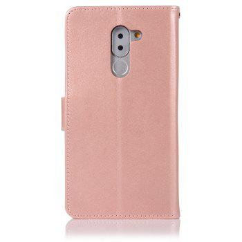 Owl Campanula Fashion Wallet Cover For Huawei Honor 6X Case PU Luxury Retro Flip Leather Case Phone Bag With Stand - ROSE GOLD