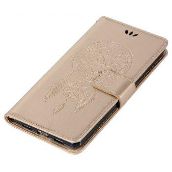Owl Campanula Fashion Wallet Cover For Huawei Honor 6X Case PU Luxury Retro Flip Leather Case Phone Bag With Stand - GOLDEN