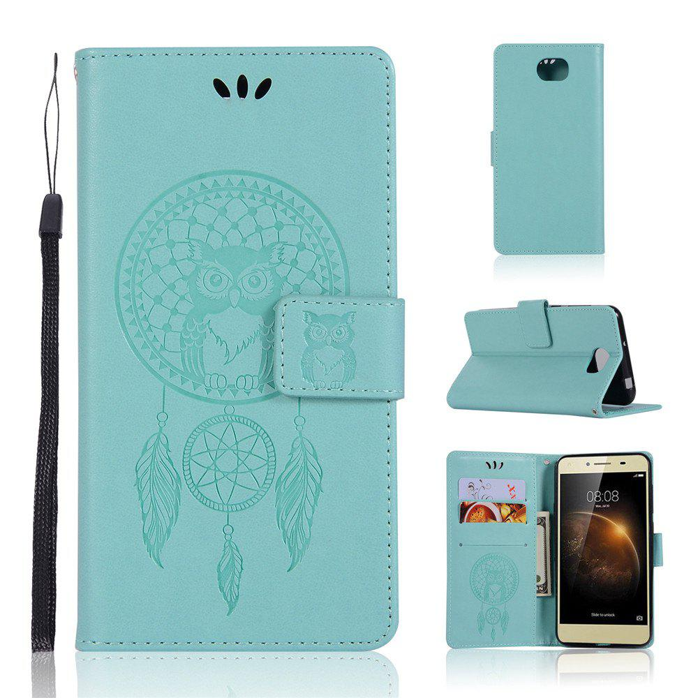 Owl Campanula Fashion Wallet Cover For Huawei Y5 II Case PU Luxury Retro Flip Leather Case Phone Bag With Stand - IVY