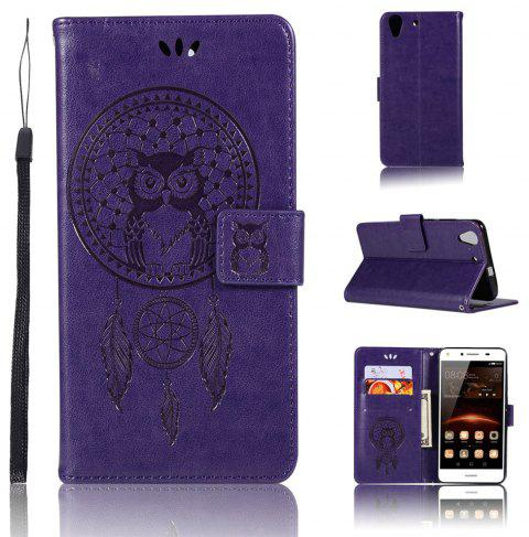 Owl Campanula Fashion Wallet Cover For Huawei Honor Holly 3 / Honor 5A Play Phone Bag With Stand PU Flip Leather Case - TAHITI
