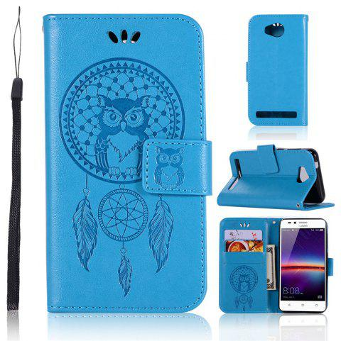Owl Campanula Fashion Wallet Cover For Huawei Y3 II / LUA-U22 Case PU LuxuryFlip Leather Case Phone Bag With Stand - BLUE