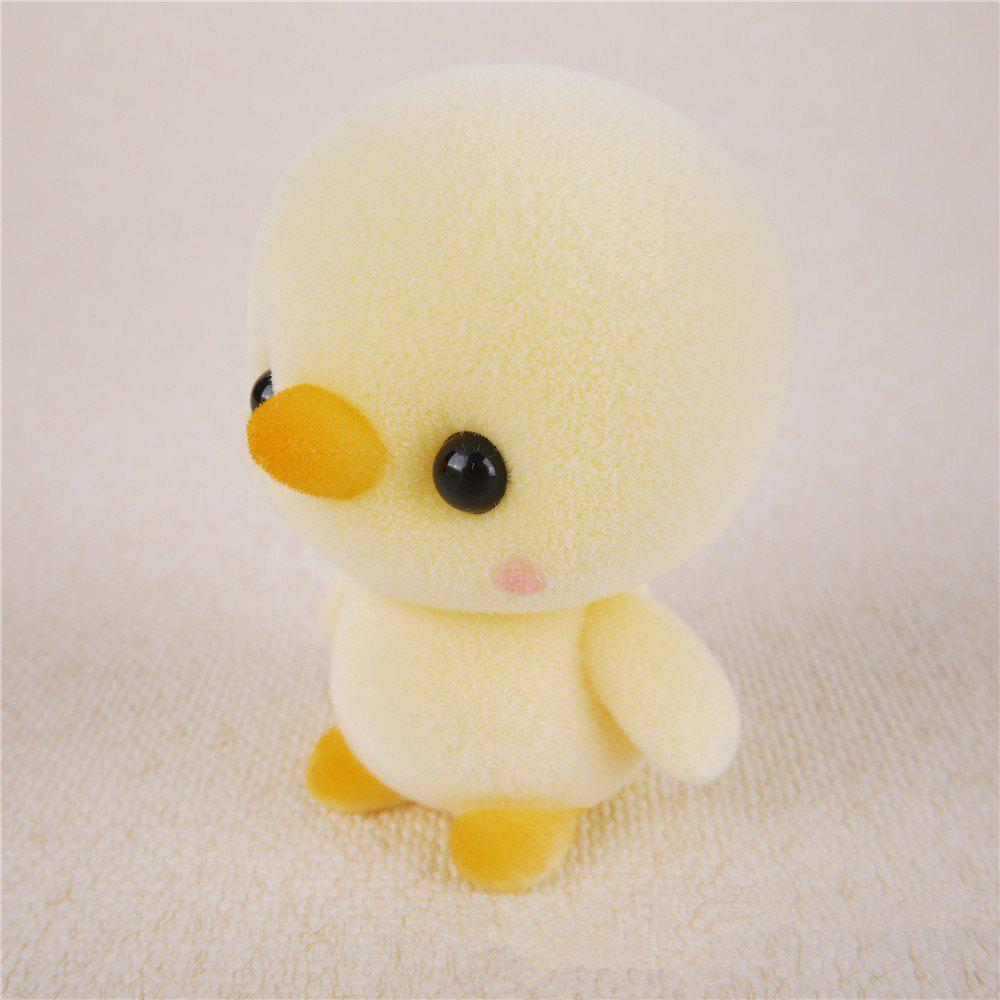 Mini Lovely Flocking Yellow Duck Doll Furnishing Articles Kids Gift - YELLOW
