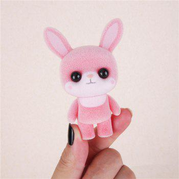 Mini Lovely Flocking Pink Rabbit Doll Furnishing Articles Kids Gift -  PINK
