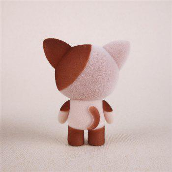 Mini Lovely Flocking Brown Cat Doll Furnishing Articles Kids Gift -  BROWN