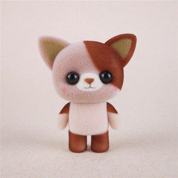 Mini Lovely Flocking Brown Cat Doll Furnishing Articles Kids Gift - BROWN BROWN
