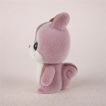 Mini Lovely Flocking Pink Squirrel Doll Furnishing Articles Kids Gift -  PINK
