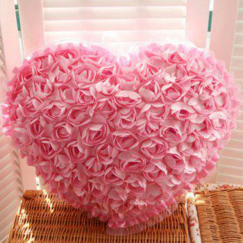 Rose Heart Shape Home Decor Decorative Sofa  Pillow Valentine Day present - PINK PINK