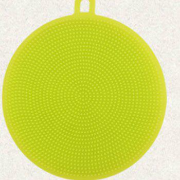 2PCS Multifunction Silicone Dish Bowl Cleaning Brush Dish Sponge Kitchen Washing Tool - GREEN