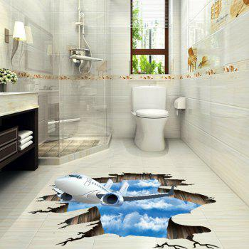 Home Decoration Art 3D Decals Living Room Floor Stickers - WHITE