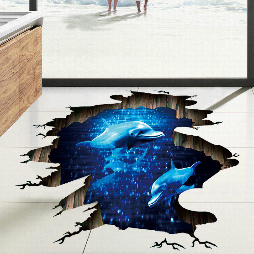 Blue  Dolphin Kids Rooms Living Room Bedroom Stickers Art Home Decor - BLUE