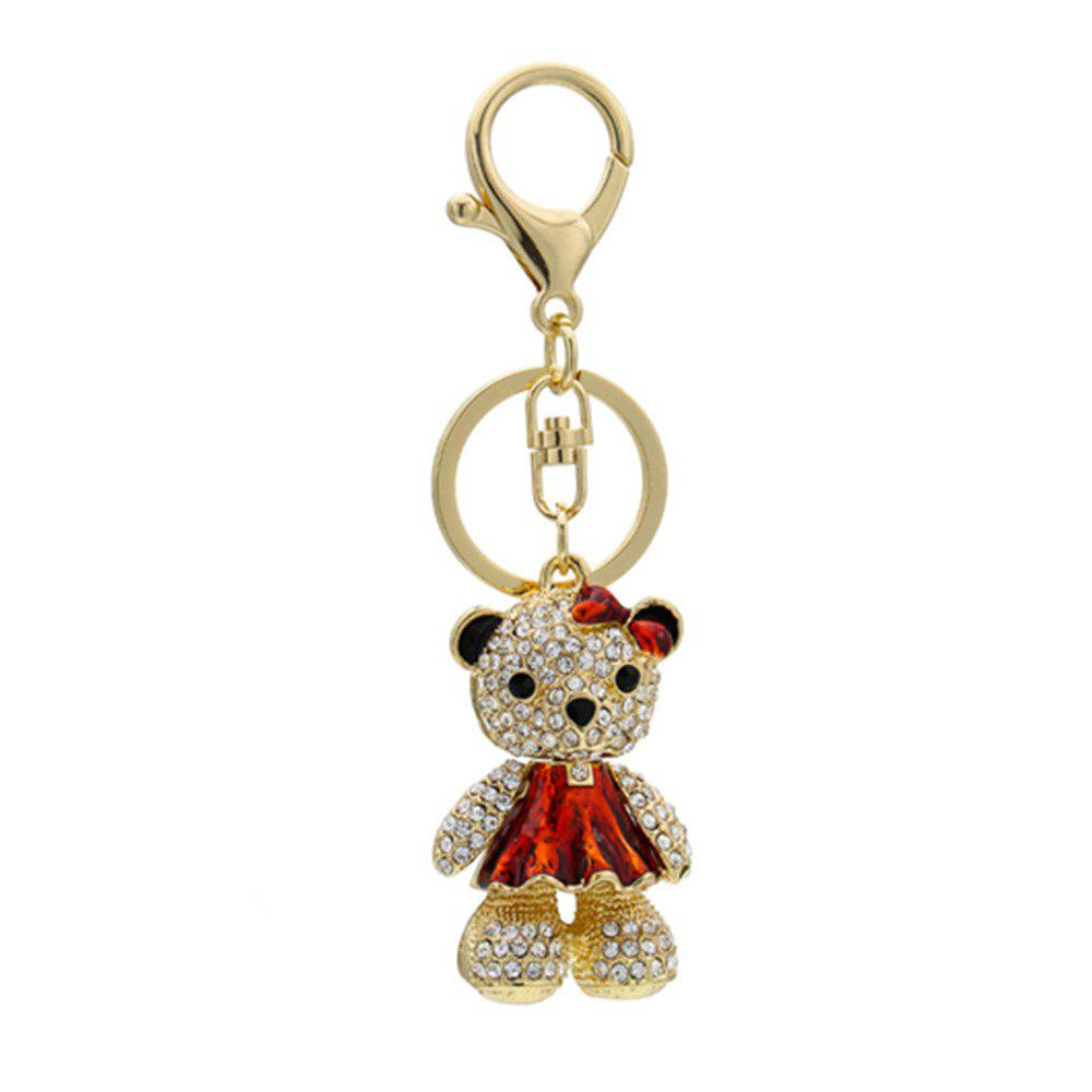 Cute Little Bear Keychain Animal Keyring Car Bag Accessory - GOLDEN