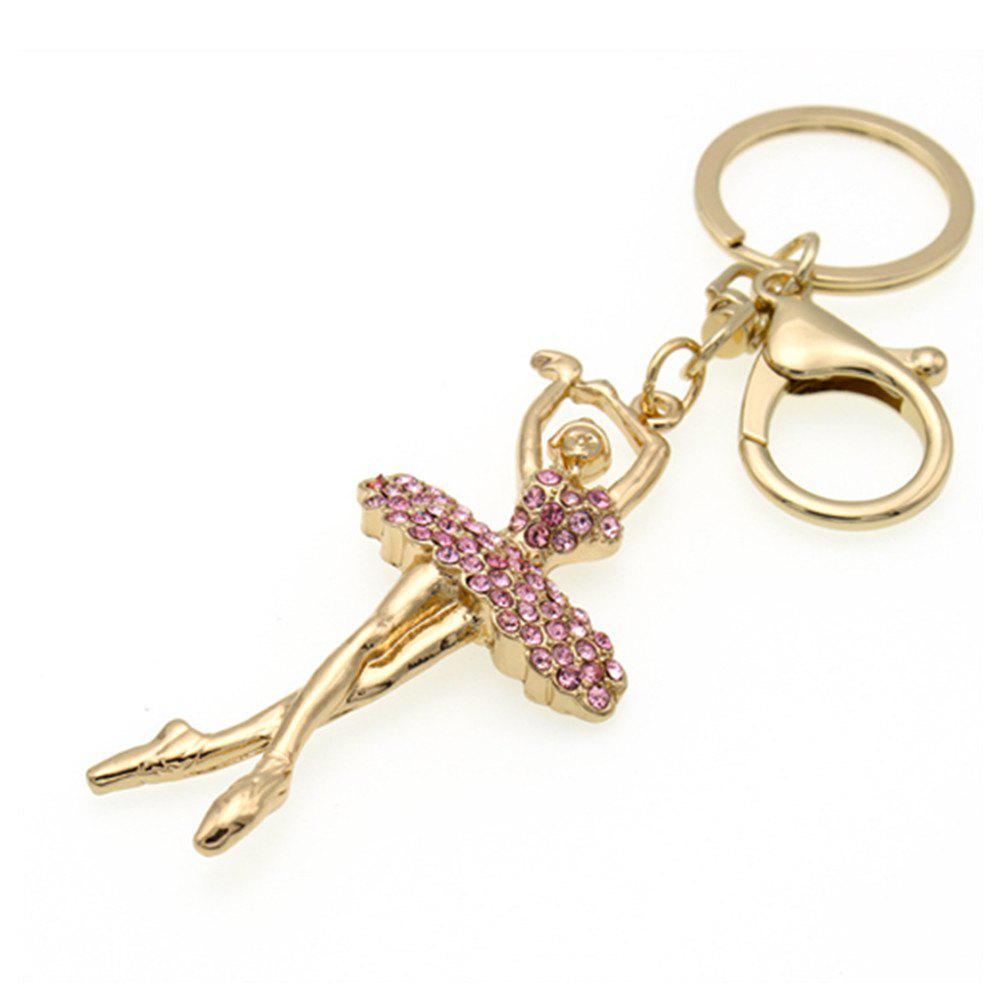 Fashionable Cute Girl Key Chain Lady Bag Car Hang Piece - GOLDEN