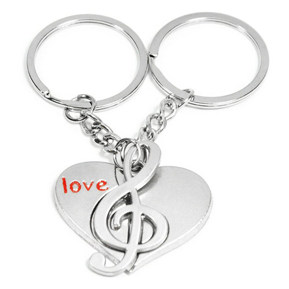 Metal Pendant Lovers Keychain Originality Gift Gadget - SILVER