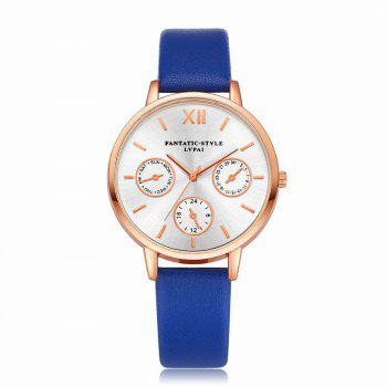 Lvpai P093-R Women Casual Leather Strap Quartz Watches - ROYAL ROYAL