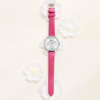 Lvpai P093-S Women Casual Leather Strap Quartz Watches - ROSE RED