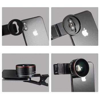 Macro Lens Camera Lens Long Clip 20X Macro 128degreesX Wide Angle Lens forTECNOitelInfini and 99Percent mobile phones - BLACK/RED