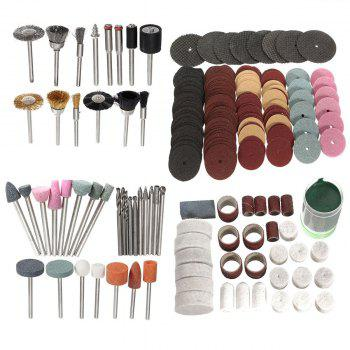 223PCS/SET Rotary Power Tool Accessory Bits 1/8 Sanding Polishing Cutting Accessory Kit for Woodwoking Dremel Grinding Hobby Drill with Storage Box - AS THE PICTURE FOR USA